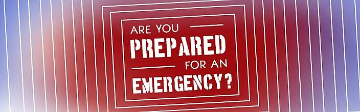 Staying prepared for an emergency