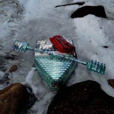 DIY water bottle raft