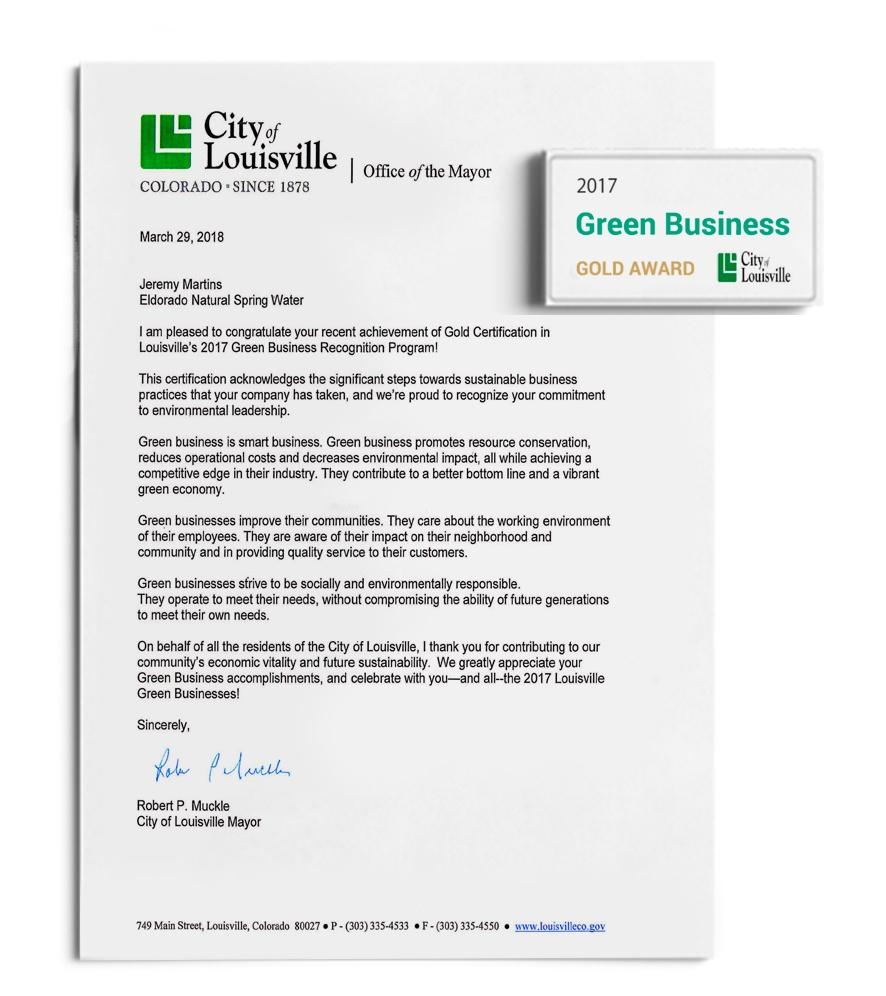 Green Business Gold Award