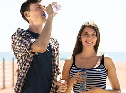 Couple drinks Eldorado Water