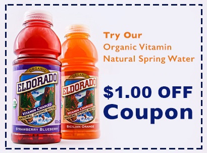 Eldorado Organic Vitamin Water Coupon