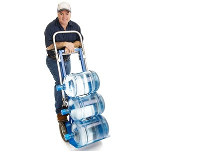 Eldorado Water Delivery Man with 5 gallon bottles