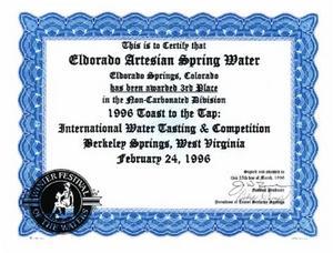 Eldorado 1996 3rd place Berkley Springs