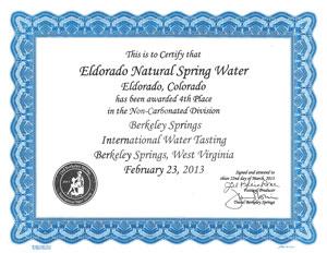 Eldorado 2013 4th Place Berkley Springs