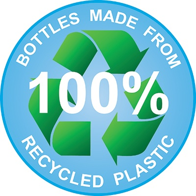 Bottles Made From 100% Recycled Plastic