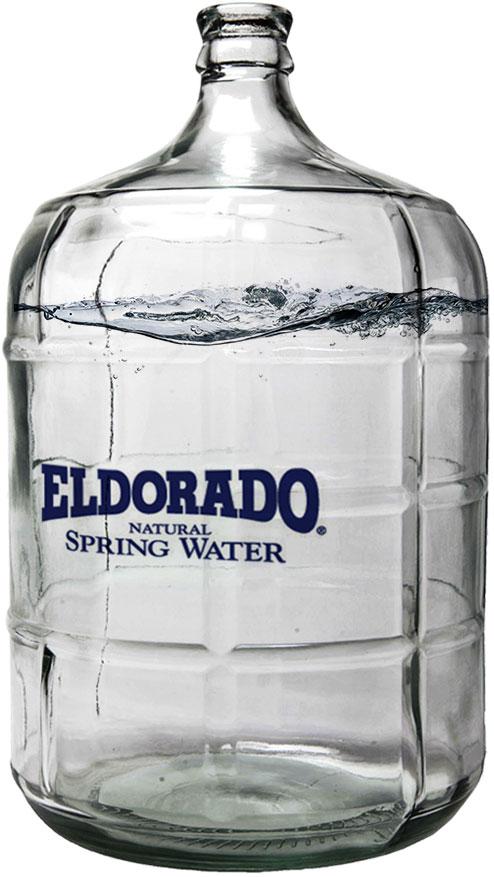 Large Eldorado Water glass bottle