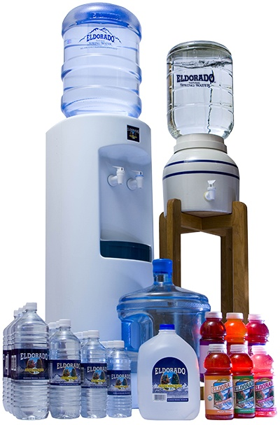 We offer a variety of ways to drink your Eldorado Water