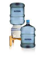 Two 5 Gallon Bottles Ceramic Dispenser
