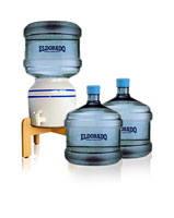Three 3 Gallon Bottles Ceramic Dispenser