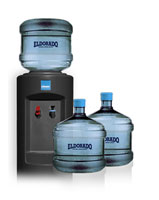 Three 3 Gallon Bottles Hot/Cold Dispenser