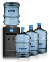 Four 5 Gallon Bottles Cold Dispenser